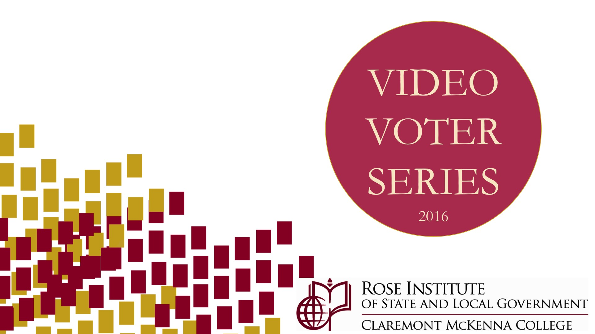 Video Voter Series splash screen