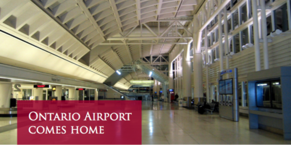 Ontario Airport Comes Home
